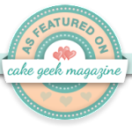 Cake Geek Magazine feature Badge