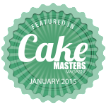Featured in Cake Masters Magazine Janurary 2015