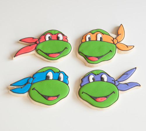 Decorated sugar cookies, TMNT