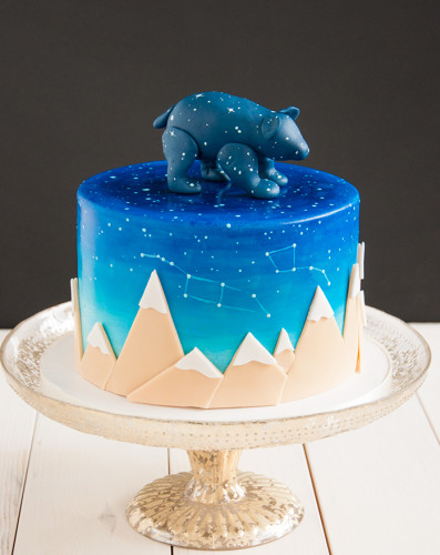 Baby shower cake for Ursa, like the constelation