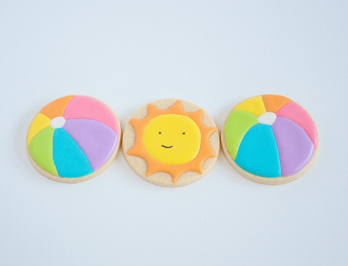 Beach ball and sunshine sugar cookies