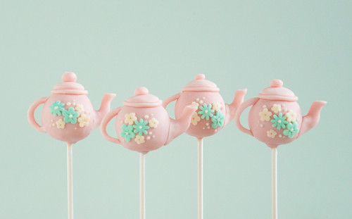 Pink Tea Pot Cake Pops