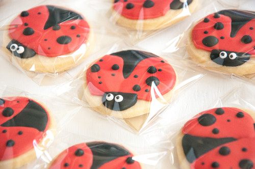 Lots of lady bug cookies