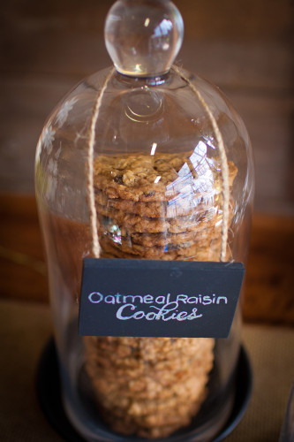 A large stack of oatmeal raisin cookies