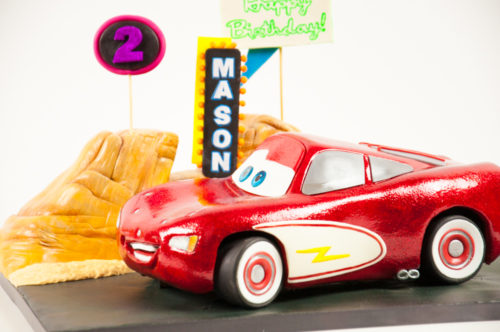 3D Carved Lightening McQueen Cake from Disney's Cars