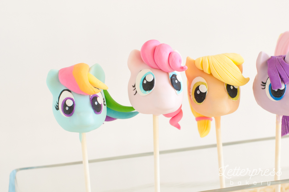 My little pony party dessert table cake pops