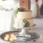 Sweet sugar succulents, peonies and rustic buttercream texture