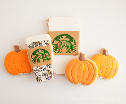 Pumpkins and 2015 starbucks fall coffee cups