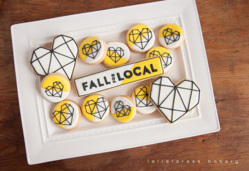 Fall for local brand and logo cookies