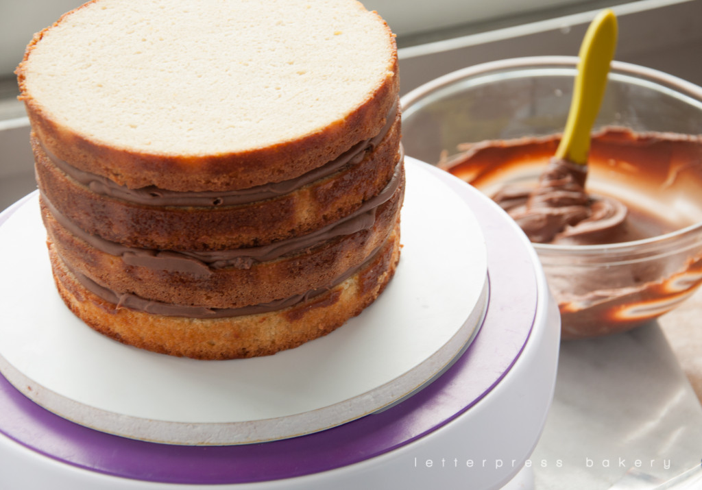 Stacked tangerine cake
