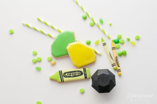 Lime green cookies with Nix Sensor Pro