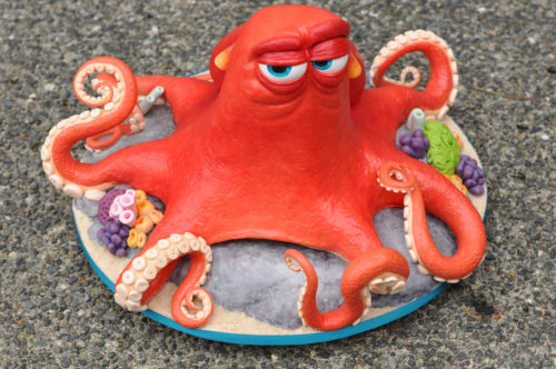 Finding Dory's Hank the Octopus 3D carved cake