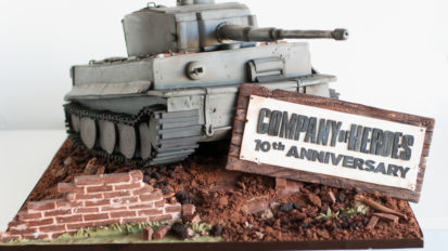 Company of Heroes 10th Anniversary Tank Cake