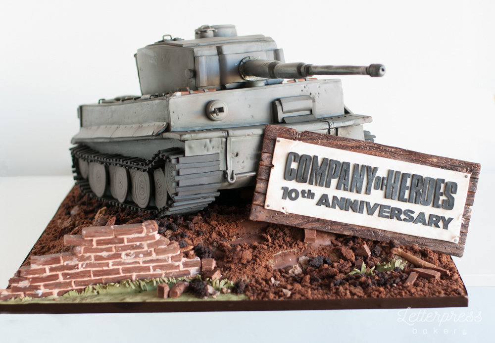 German Tiger Tank replica cake