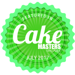 July 17 Cake Masters Magazine featured in badge