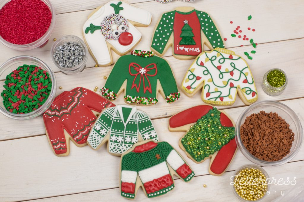 Ugly Sweater Cookie Decorating workshop Vancouver